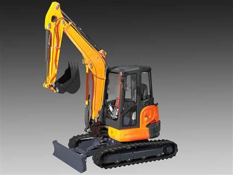 mini excavator kubota   model  unknown obj fbx max freed