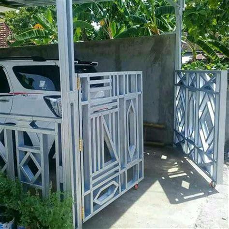 contoh desain pagar rumah baja ringan unik model desain