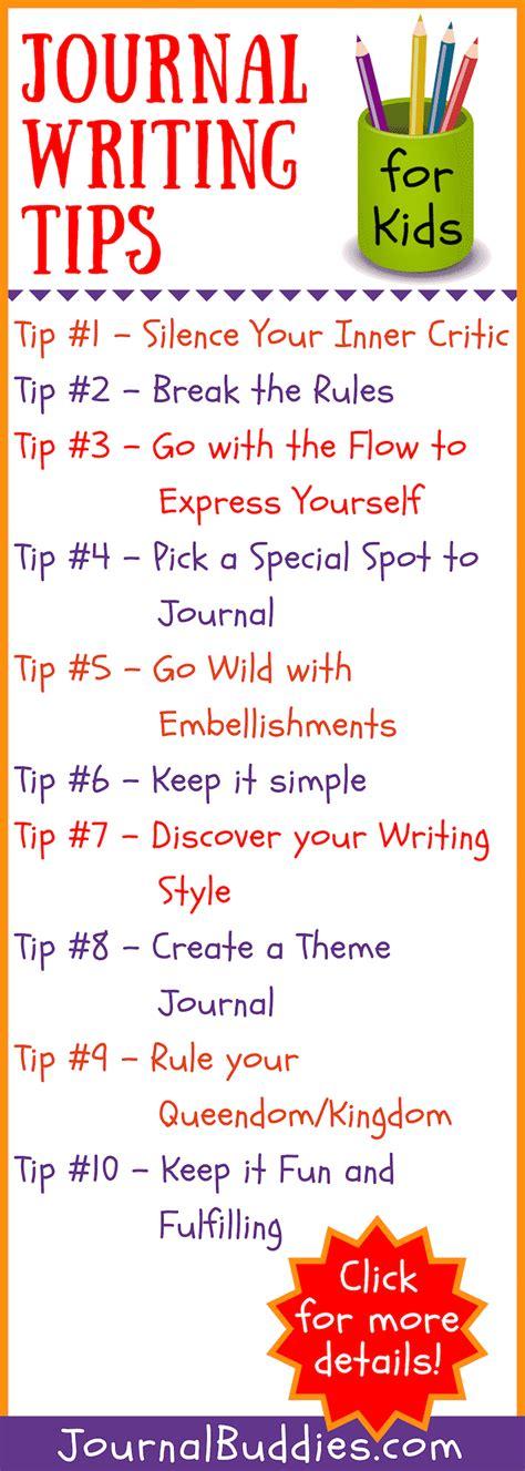 10 Journal Writing Tips for Kids • JournalBuddies.com