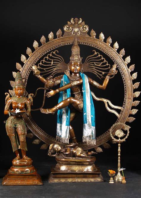 brass large dancing shiva nataraja  bs hindu