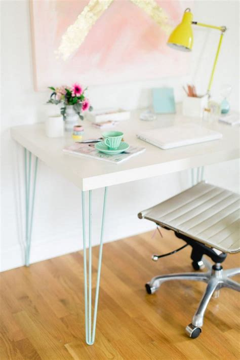 diy desk with hairpin legs awesome ikea desk hacks