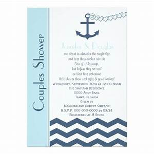 couples coed wedding shower invitation nautical 5quot x 7 With coed wedding shower invitations
