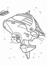 Spaceship Coloring Wall Pages Cartoon Printable Cartoons sketch template