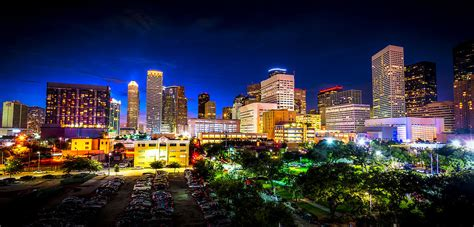 houston city lights photograph by david morefield