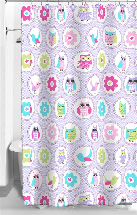 owl shower curtain crb owl garden shower curtain and hook set home bed bath bath shower curtains vanity