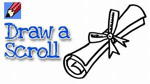 How to draw a graduation scroll real easy - for kids and ...
