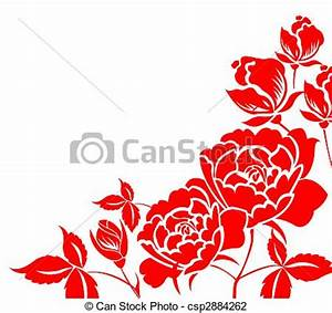Chinese paper-cut of peony flower. Chinese traditional ...