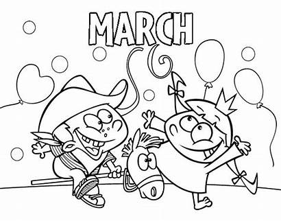 March Coloring Coloringcrew Colorear