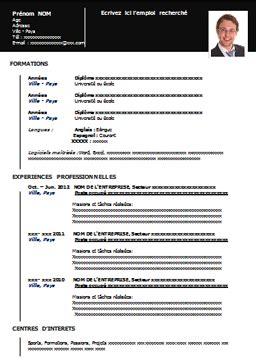Modèle De Cv Vierge Cv Modèles De Cv Modèle De Cv à Imprimer Gratuit Au Format Word