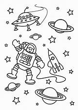 Space Astronaut Outer Coloring Mission Pages Print sketch template