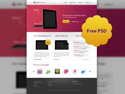 free web design pink web design free psd template psdexplorer