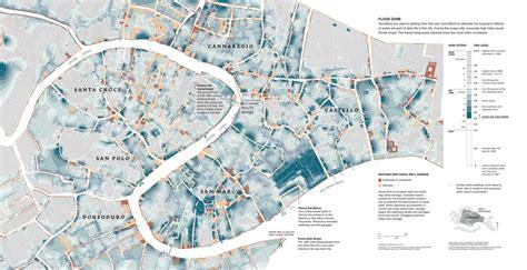venice flood map clear illustration  subject