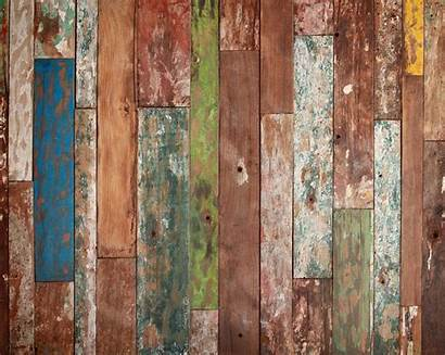 Wood Weathered Mural Wall Basket