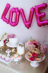 Kara39s Party Ideas Pink Gold Galentines Valentines Party