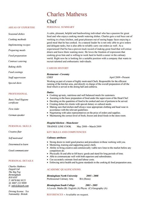 Professional Sous Chef Resume by Chef Professional Resume