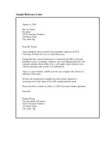 Exle Of Employment References by Employment Recommendation Letter Exles The Letter Sle