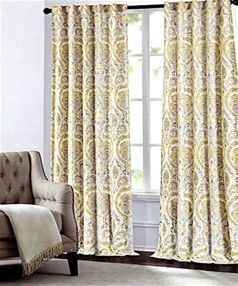 tahari home curtains navy tahari home camden paisley scrolls window panels 52 by 96