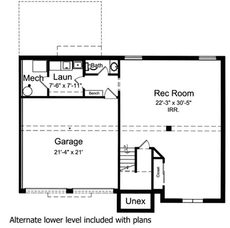 bi level home plan st st floor master suite
