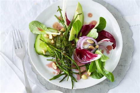 meeressalat mit queller avocado und gurke rezept fit