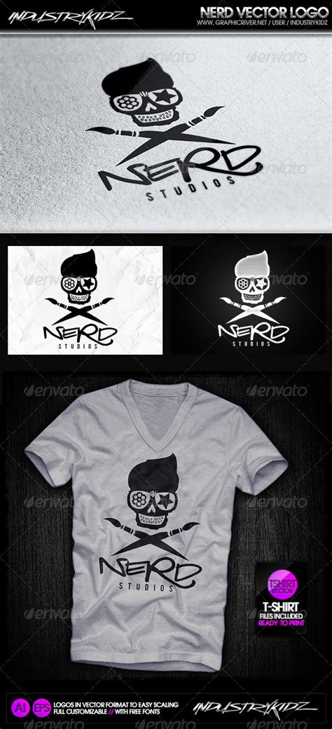 Templates Nerd by Nerd Logo Template By Industrykidz Graphicriver