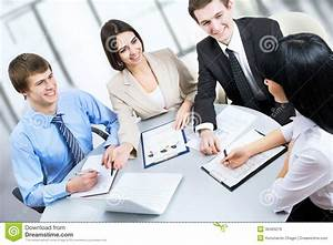 Business People Working At Meeting Royalty Free Stock ...