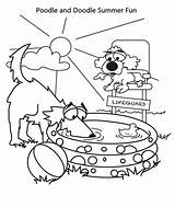 Coloring Pages Summer Vacation Poodle Doodle Lifeguard Printable Dog Getcolorings Getdrawings Prin sketch template