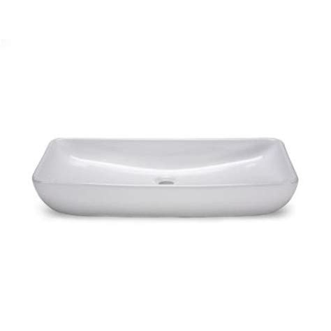 low profile vessel sink xylem above counter rectangular vitreous china vessel sink