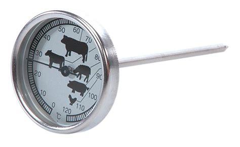 sonde pour cuisine thermomètre de cuisson à sonde et cadran tom press