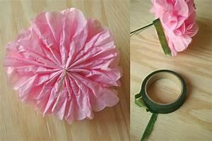 Blumen Aus Seidenpapier : blumen und vase zu muttertag himbeer ~ Orissabook.com Haus und Dekorationen