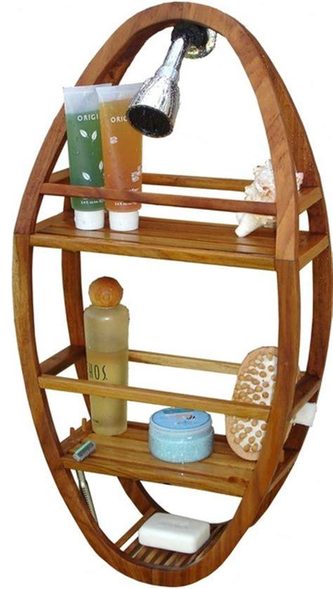 Teak Bath Caddy Australia by Teak Shower Organizer From The Spa Collection