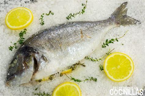 receta de dorada  la sal pescado al horno facil