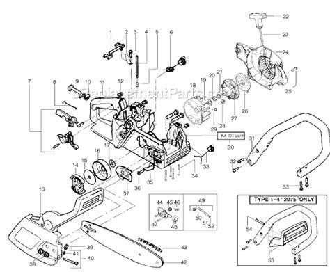poulan  parts list  diagram type