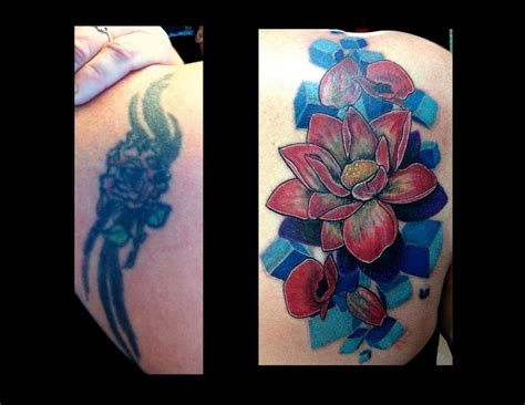 Flower Coverup Tattoo By Haley Adams