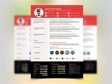 free simple resume design template for ui ux designers