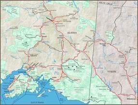 Alaska Highway Map with Cities