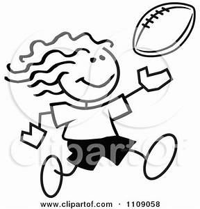 Girl Football Player Clipart (61+)
