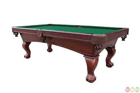 how many feet is a pool table green 8 foot ball and claw style slate pool table