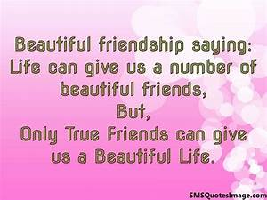Beautiful friendship saying - Friendship - SMS Quotes Image