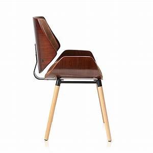 Chaise Design Rtro Vintage Fauteuil Rembourr Bois Avec