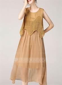 Polyester longueur au genou robe 199132448 robes for Robe longueur genou