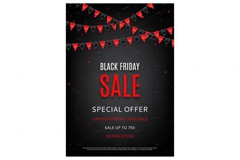 Black Frigay Template by Design Of The Flyer Of Black Friday Flyer Templates On