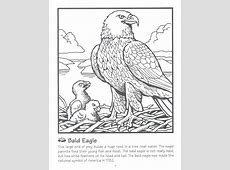 Bald Eagle clipart coloring book Pencil and in color