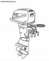 Boat Motor Coloring Outboard Engine Clipart Pages Motors Colouring Boats Moter Clipground Popular Coloringhome sketch template