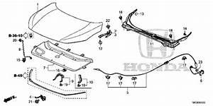 Engine Hood 2016 Honda Civic Coupe Parts Lx  6mt  6 Speed