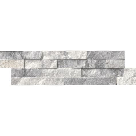 marble wall tile ms international alaska gray ledger panel 6 in x 24 in natural marble wall tile 6 sq ft
