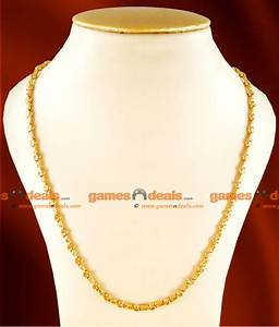 CJAY03-LG - 30 inches Long Gold Plated Daily Wear Thick Womens Box Kumil Design Guarantee Chain ...