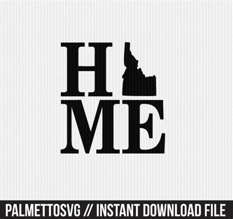 Inside you'll find lots of free files for you because i truly love to share — every week i'll be adding more to the library, so check. idaho home svg dxf file stencil monogram frame silhouette ...