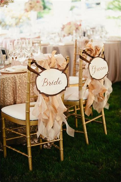 creative wedding chair decor  fabric  ribbons
