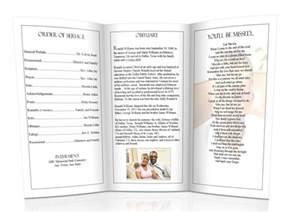 trifold wedding program christian funeral programs sle funeral program