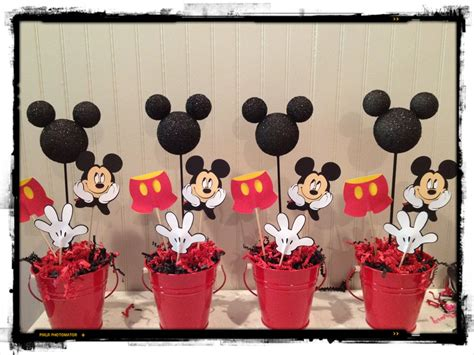 Mickey Mouse Decorations by Mickey Centre De Table Bapteme